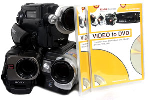 Camcorder tapes to DVD