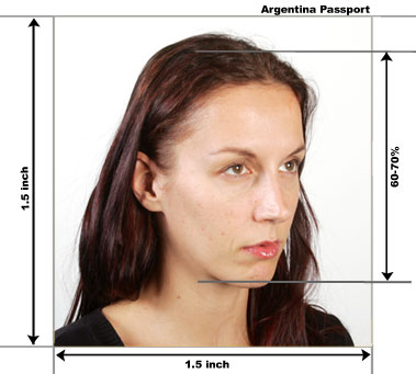 Argentina Passport Photo Example