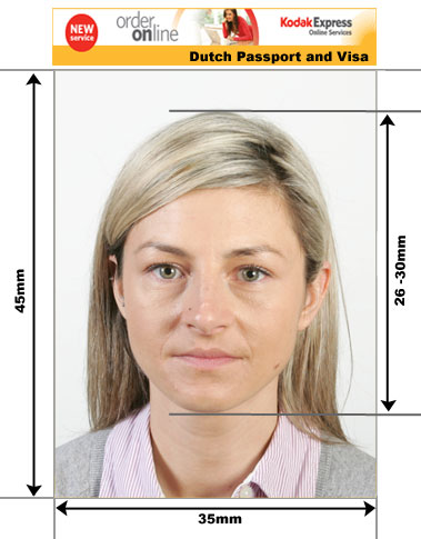 Dutch Visa and Passport  Photos